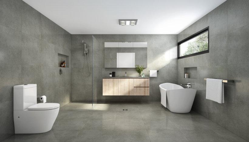 Bathroom Designs - Concrete Look