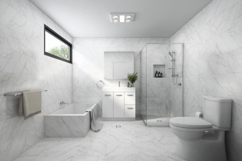 Bathroom Designs - Grey White Style