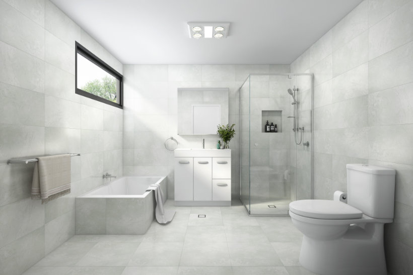 Bathroom Designs - Light Grey Style