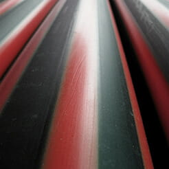 Red Stripe Poly Pipe