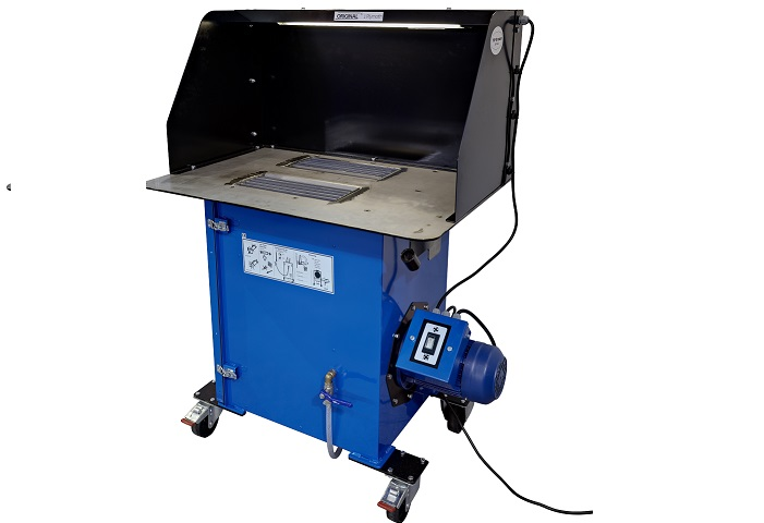 Grinding bench for welding and soldering fume extraction