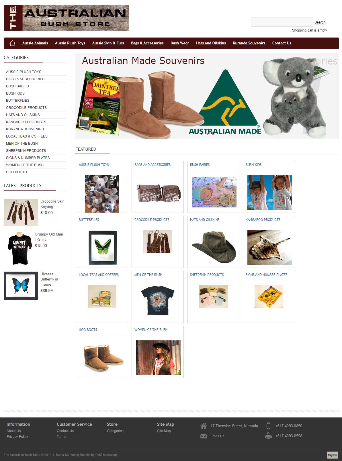 Australian Bush Store :: PMZ Marketing Client