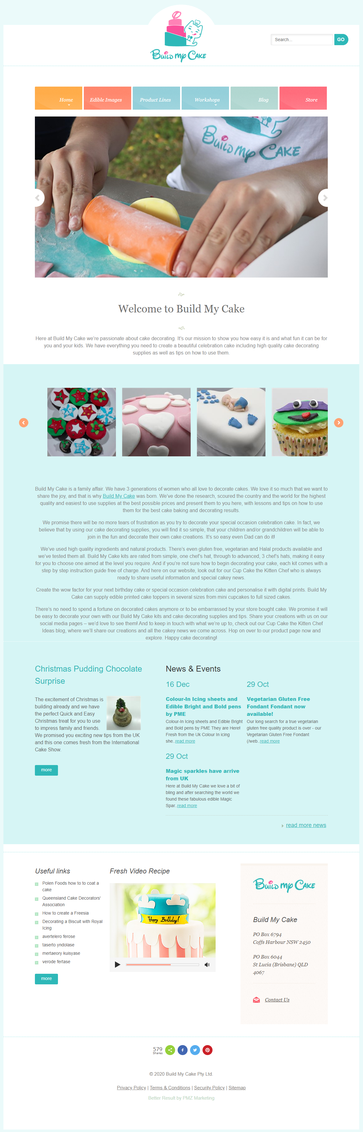 Build My Cake :: PMZ Markeitng Client