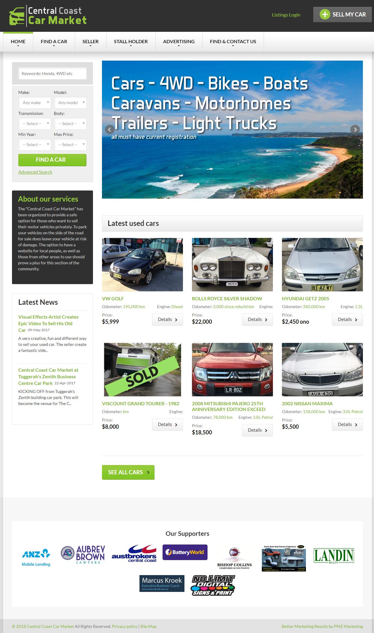 Central Coast Car Market :: PMZ Marketing Client