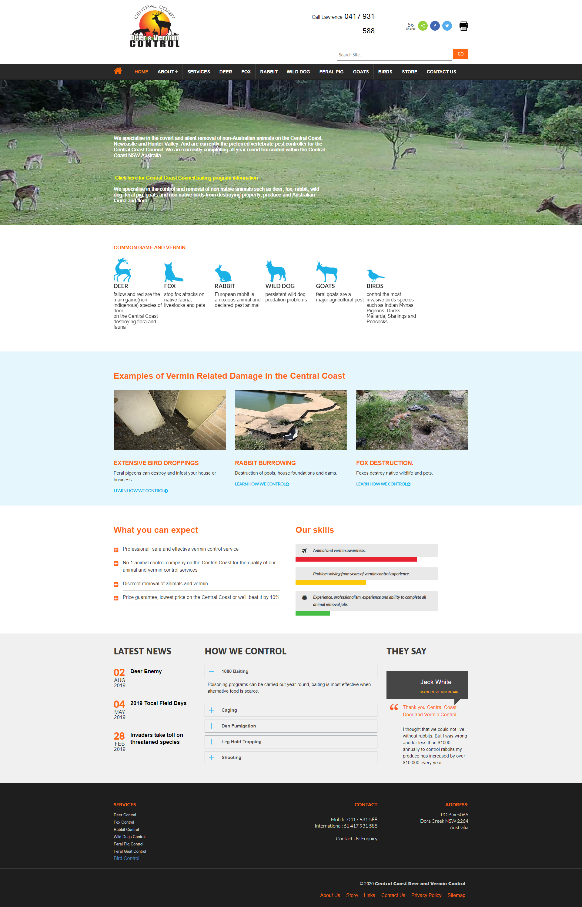 Central Coast Deer and Vermin Control ::  PMZ Marketing Client