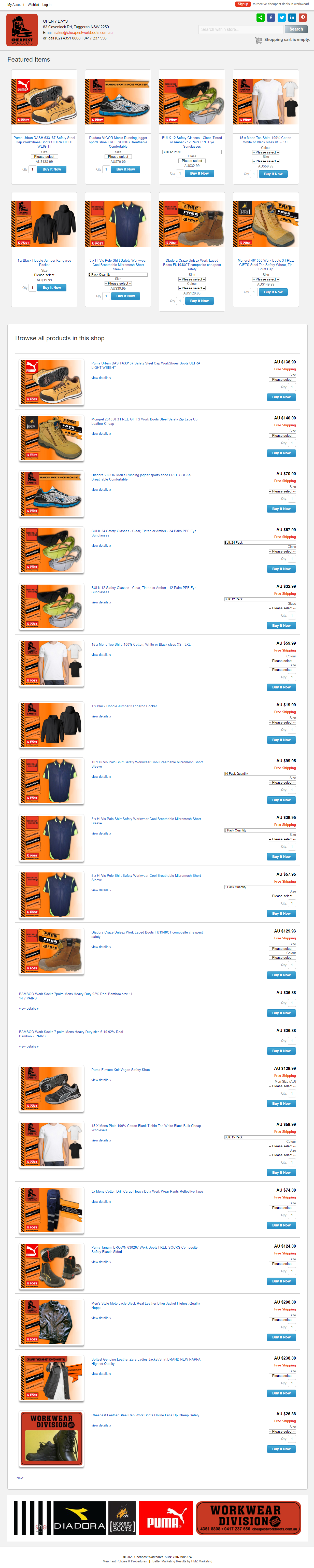 Cheapest Workboots :: PMZ Marketing Client