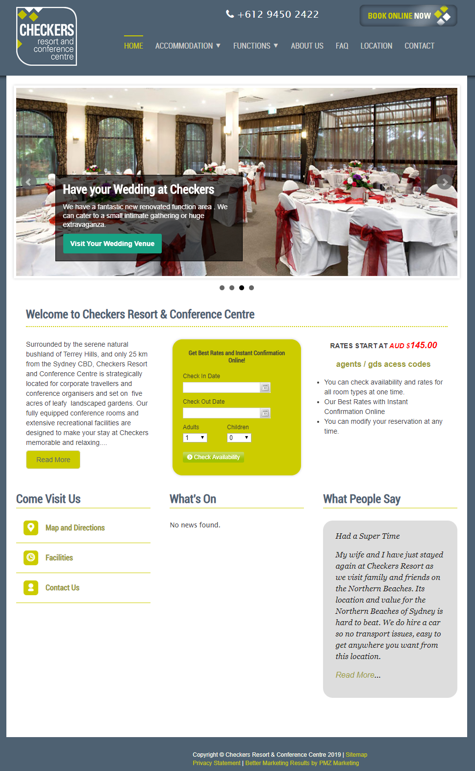 Checkers Resort and Conference Centre :: PMZ Marketing Client