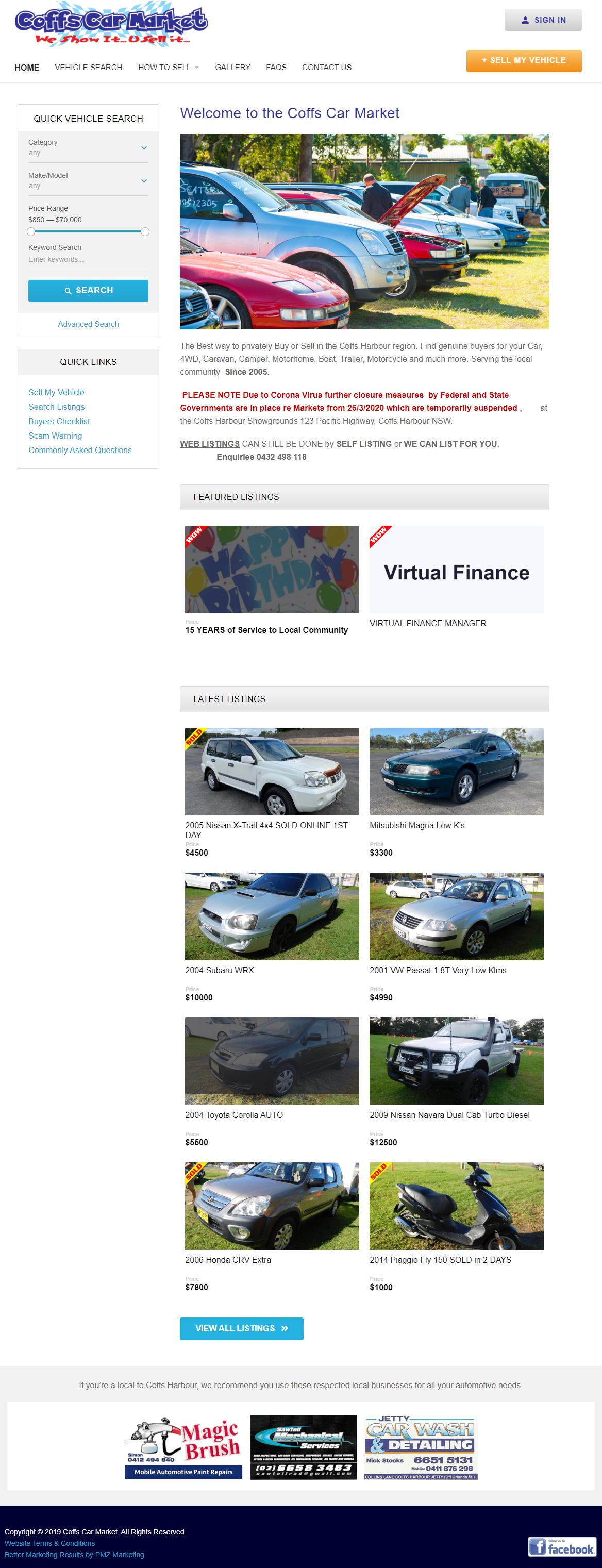 Coffs Harbour Car Market :: PMZ Marketing Client