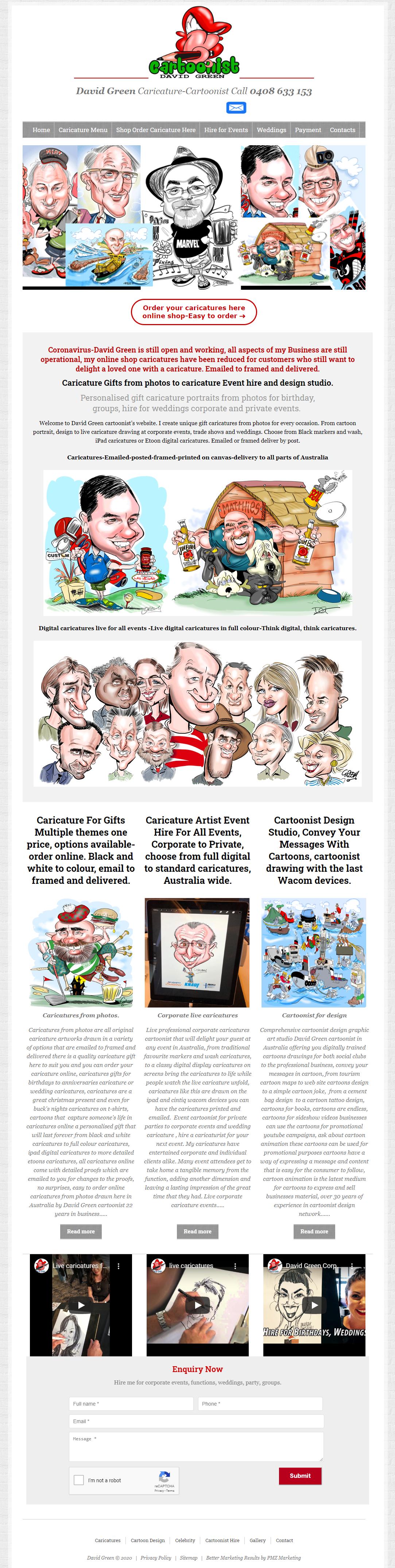 David Green Caricatures :: PMZ Marketing Client