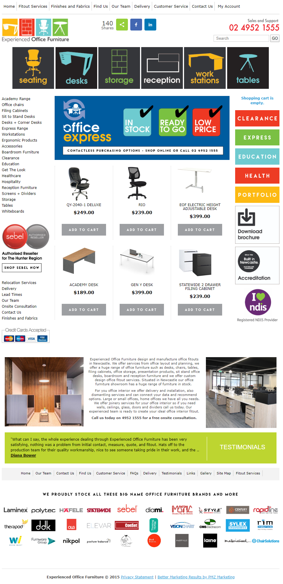 Experienced Office Furniture :: PMZ Marketing Client