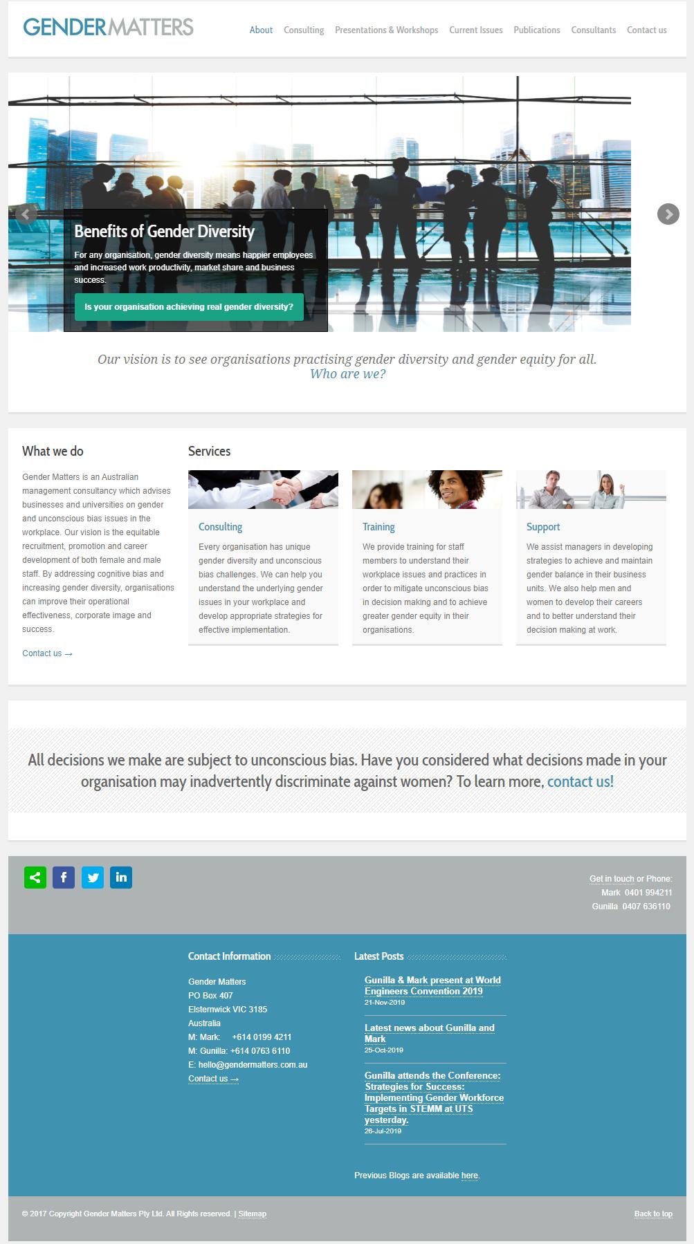 Gender Matters :: PMZ Marketing Client