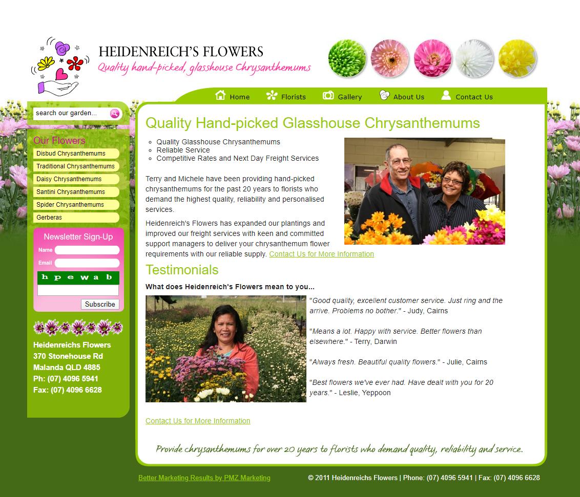 Heidenreichs Flowers :: PMZ Marketing Client