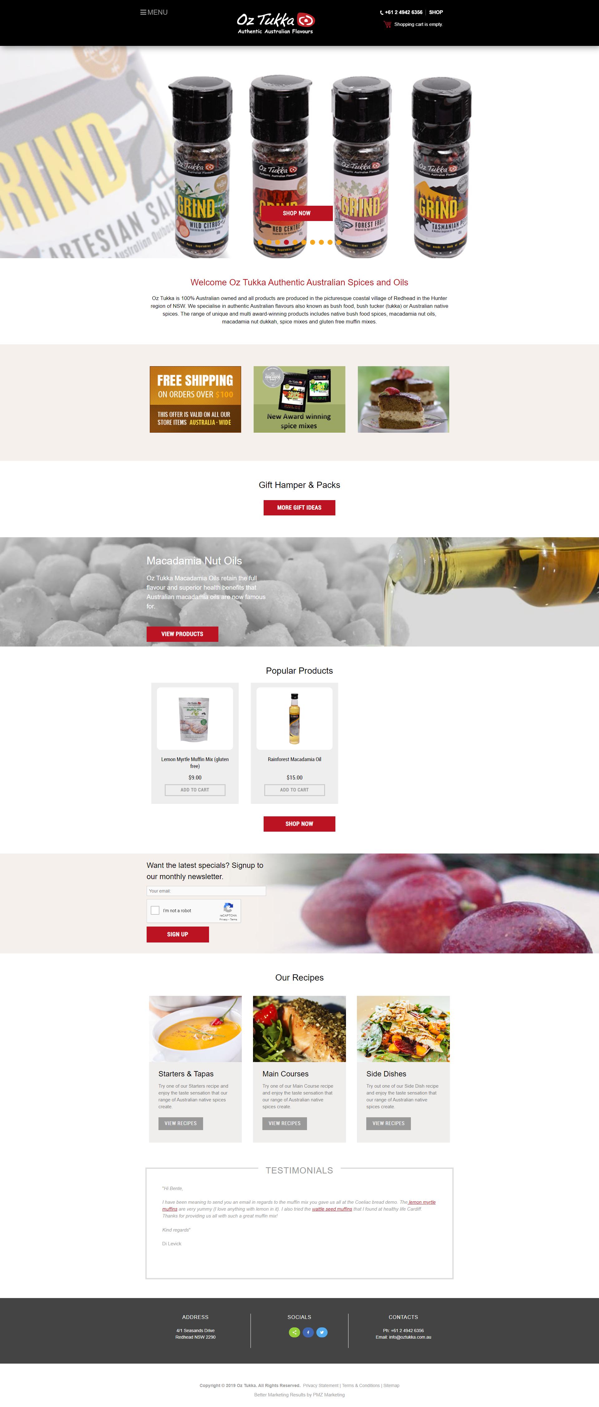 Oz Tukka Authentic Australian Favours & Spices :: PMZ Marketing