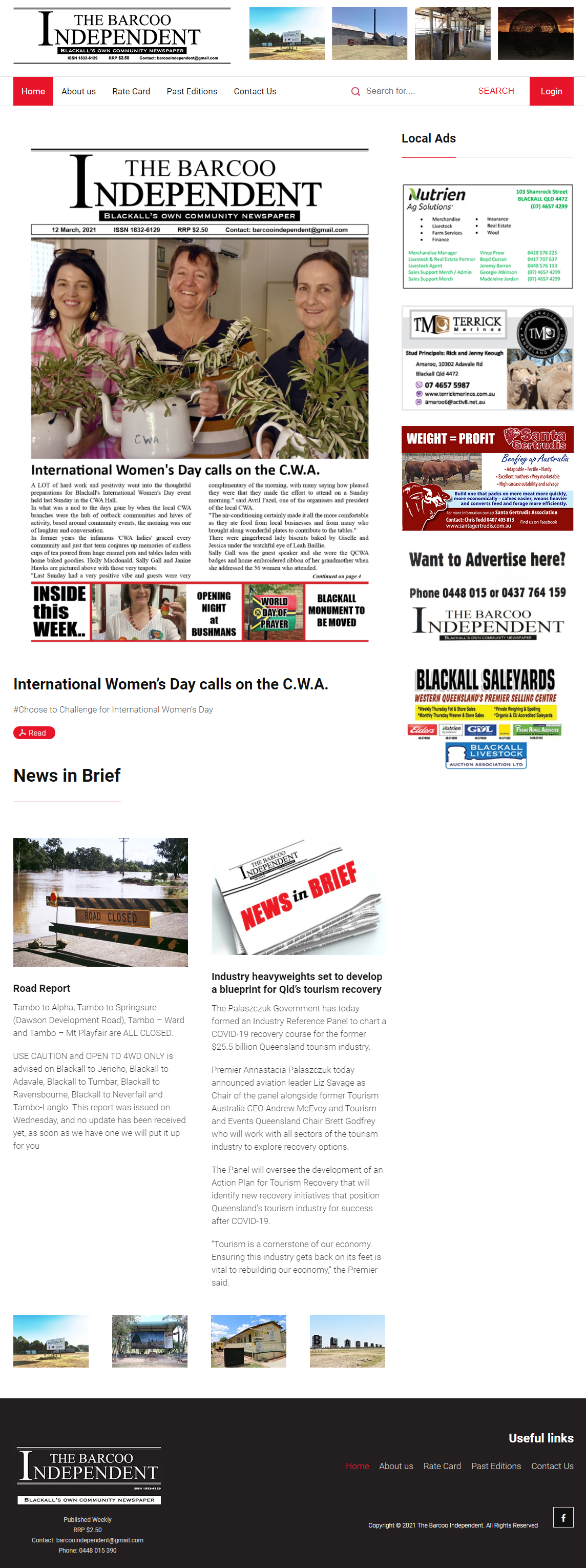 The Barcoo Independent :: PMZ Marketing