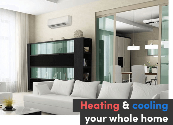 How does a split system air conditioner work?