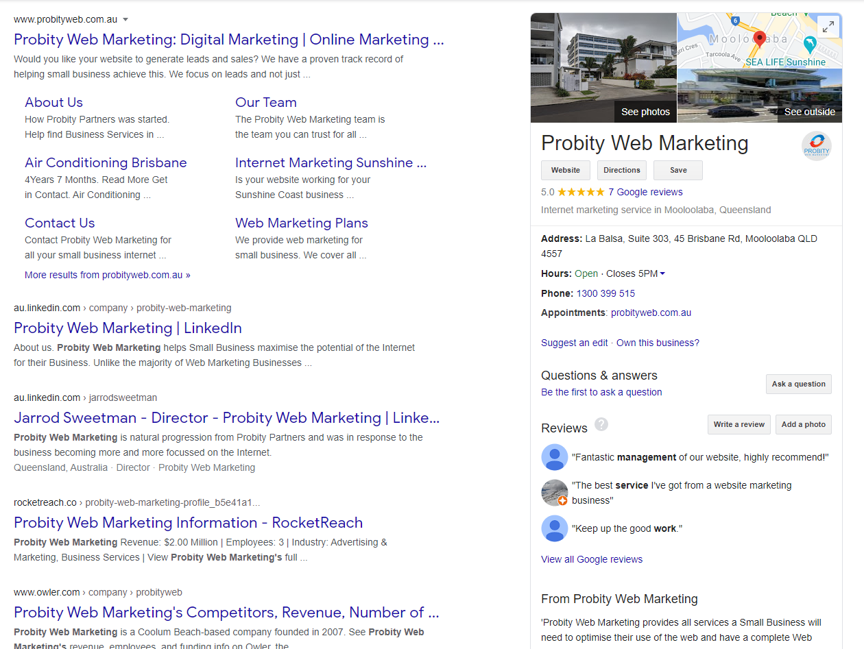 Local SEO - GMB for Normal Search
