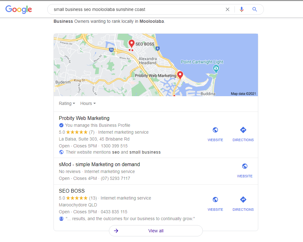 Local SEO - GMB for Local Pack