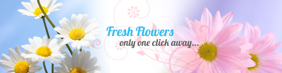 Fresh flowers only one click away...