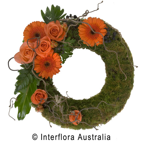 Apricot Mossed Wreath