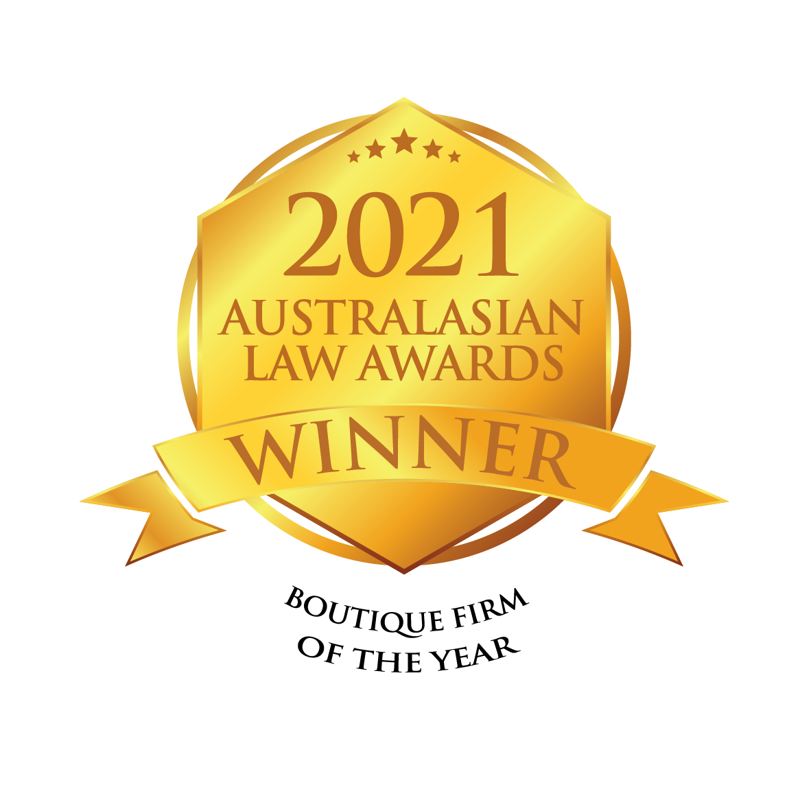2021 – The Fold - Australasian Law Awards – Boutique Firm of the Year