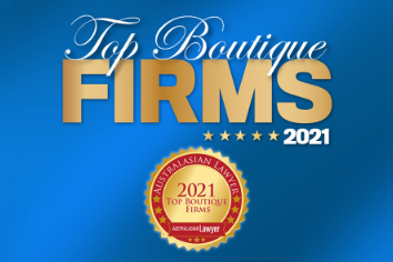 2021 – Australasian Lawyer – Top Boutique Firms List