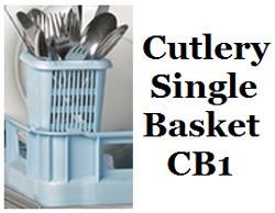 Hobart CB1 Dishwasher Single Section Cutlery Basket