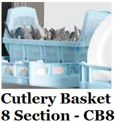 Hobart CB8 8 Section Cutlery Basket