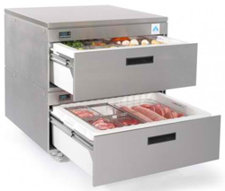 Adande VCR2-CW Standard Double Drawer Rear Engine Solid Work Top