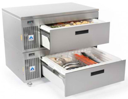 Adande VCS2-CW Standard Double Drawer Side Engine Solid Work Top