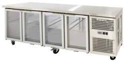 Airex AXR.UCGN.4G Under Counter 4 Glass Door Fridge