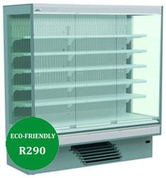 Bonnet Neve Onwave 3 Green Eco HP 5E/W 187 Glass Door Multi Deck Chiller