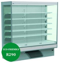Bonnet Neve Onwave 3 Green Eco HP 5E/W 250 Glass Door Multi Deck Chiller