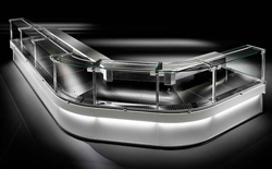 Criocabin Enixe EI100-45ISC 45° Inside Corner Serve Over Deli Counter