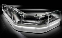 Criocabin Enixe EI100-90ISC 90° Inside Corner Serve Over Deli Counter