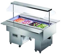 Tecfrigo Isola 4 VT INOX Mobile Salad Bar