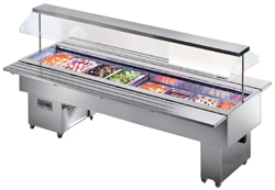 Tecfrigo Isola 8 VT INOX Mobile Salad Bar