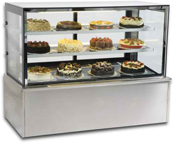 Vienna VF120-HOT Flat Glass Serve Over Heated Counter
