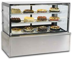 Vienna VH120 Flat Glass Serve Over High Case Patisserie Counter