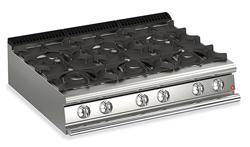 Baron Queen7 Q70PC/G1205 6 Burner Gas Cook Top