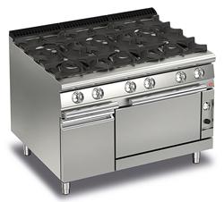 Baron Queen7 Q70PCF/G1205 6 Burner Gas Range Oven