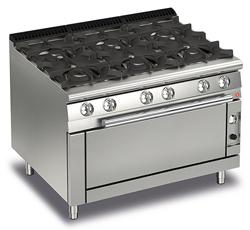 Baron Queen7 Q70PCFL/G1205 6 Burner Gas Range Large Oven