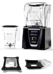 Blendtec Connoisseur 825 On Counter FourSide Jar Blender Package