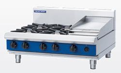 Blue Seal G516C-B Gas Cooktop 4 Burner 300 Griddle Bench Model