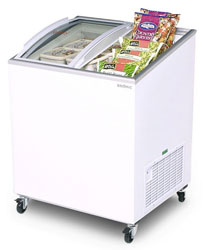 Bromic CF0200ATCG 176L Curved Glass Chest Freezer