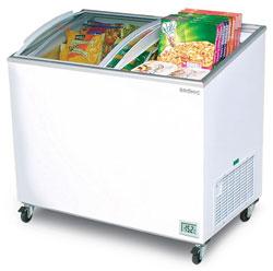 Bromic CF0300ATCG 264L Curved Glass Chest Freezer