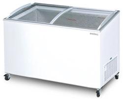 Bromic CF0600ATCG 555L Curved Glass Chest Freezer