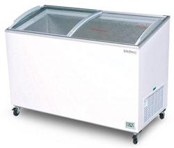 Bromic CF0400ATCG 352L Curved Glass Chest Freezer