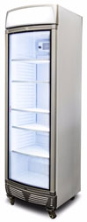 Bromic GM0400LC LED 380L Upright Display Chiller Curved Glass Door