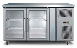 Bromic UBC1360GD 282L 2 Glass Door Underbench Chiller
