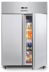 Bromic UC1300SD 1300L 2 Door SS Gastronorm Storage Chiller